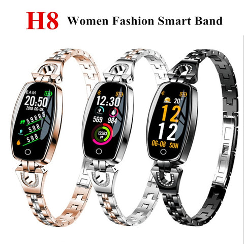Womens Fashion Smart Wristband Heart Rate Blood Pressure Smart Bracelet Watch Fitness Tracker