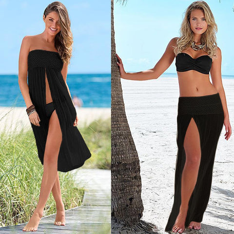 Sexy Women Cover Up Crochet Bikini Dress Skirt