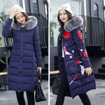 Both Sides Can be  Worn.  Winter Jacket Women With Fur Collar Hooded