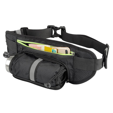 Waist Pack Bag  Cell Phone Pouch for Running Riding Hiking (Black)