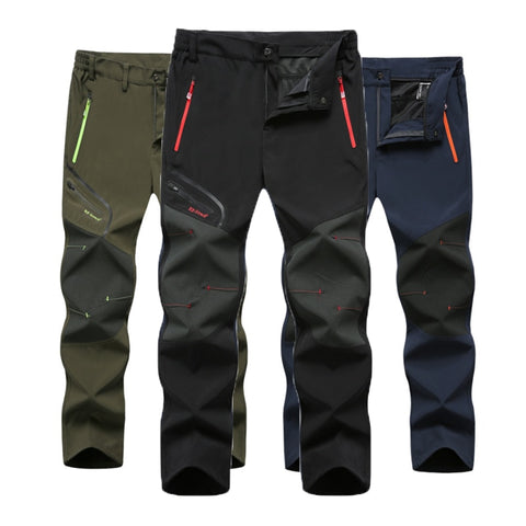 Mens Hiking Trekking Fishing Camping Climb Run Trousers Plus Size Oversized Waterproof Outdoor Pants