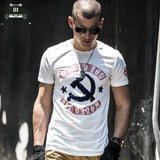 Men Cotton short sleeve Military Army Stretch T Shirts