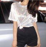 Women's fashion casual  Tshirt beautiful nice Tops Y9198