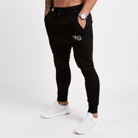 Mens Plain Slim Fit Joggers Pants Black