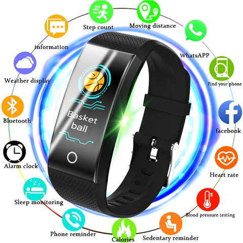 BANGWEI Fitness Smart Watch Men Women Pedometer Heart Rate Monitor Waterproof IP67  Running Sport Watch For Android IOS