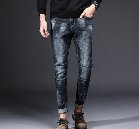 Popular New Design Men's Casual Stretch Spring Thin Jeans
