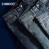 SIMWOOD Mens Classical Jean High Quality Straight Leg Male Casual Pants Plus Size
