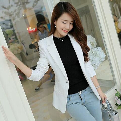 New Spring Autumn Fashion Single Button Blazer