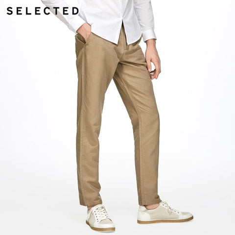 business casual cotton linen fashion straight pants