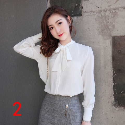 J51980 One Size Women Chiffon Shirt Casual Fashion Sweet Small Floral Printed Tshirt Factory direct wholesale price