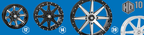 STI HD10 ATV UTV Wheels Group Shot