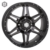 STI HD7 Smoke ATV Wheels
