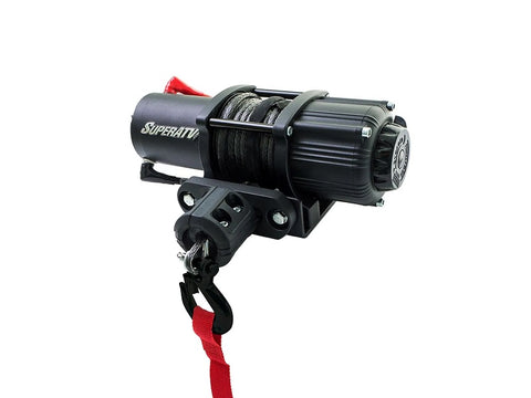 SuperATV 2500 lb Black Ops Synthetic Rope Winch