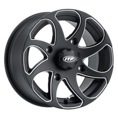 ITP Twister Milled Black ATV UTV Wheels - 14x7 Inch Rims