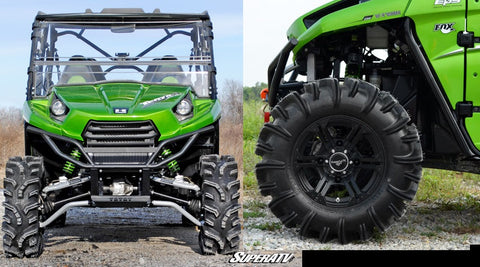 SuperATV Teryx High Clearance Front A Arms installed