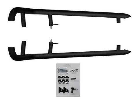 SuperATV Heavy Duty Nerf Bars Polaris RZR Turbo Models