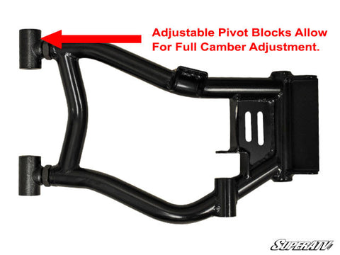 SuperATV Polaris RZR S Rear High Clearance Offset A-Arms