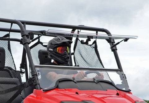 SuperATV Honda Pioneer 700 Scratch Resistant Flip Up Windshield
