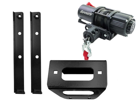 SuperATV Polaris RZR 800 Models Winch and Winch Mounts