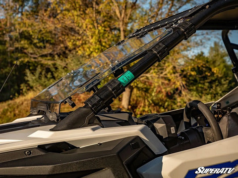 SuperATV RZR Pro XP Flip Up Windshield - Scratch Resistant