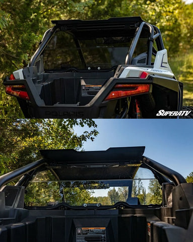 SuperATV Polaris RZR Pro XP Rear Windshield Options