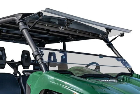 SuperATV Yamaha Viking Scratch Resistant Flip Up Full Windshield