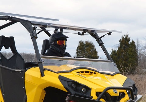 SuperATV Can Am Commander Scratch Resistant Flip Up Full Windshield