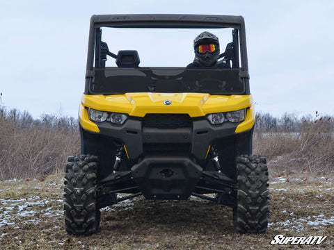SuperATV Can Am Defender Half Windshield Dark Tinted
