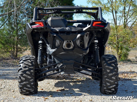 SuperATV Can Am Maverick X3 3 Inch Lift Kit Rear View