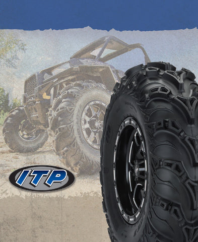"ITP Mud Lite II 25 26 27"" Inch Tire 12"" Wheel Kits Mounted W/Lug Nuts"