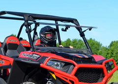 SuperATV Polaris RZR XP Turbo Flip Up Full Windshield