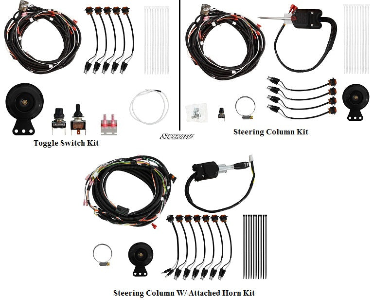Polaris Ranger 900 Plug /& Play Turn Signal Kit w//Steering Column /& Attached Horn