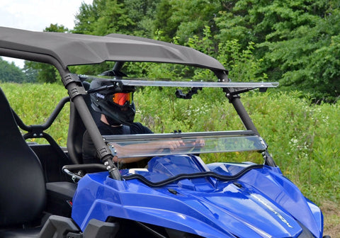 SuperATV Yamaha Wolverine Flip Up Full Windshield