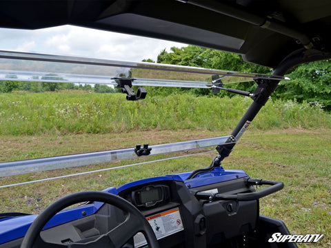 SuperATV Yamaha Wolverine R Spec Flip Up Full Windshield