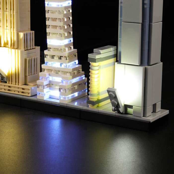 Lighting set for LEGO Architecture 21028 New York by Lightailing