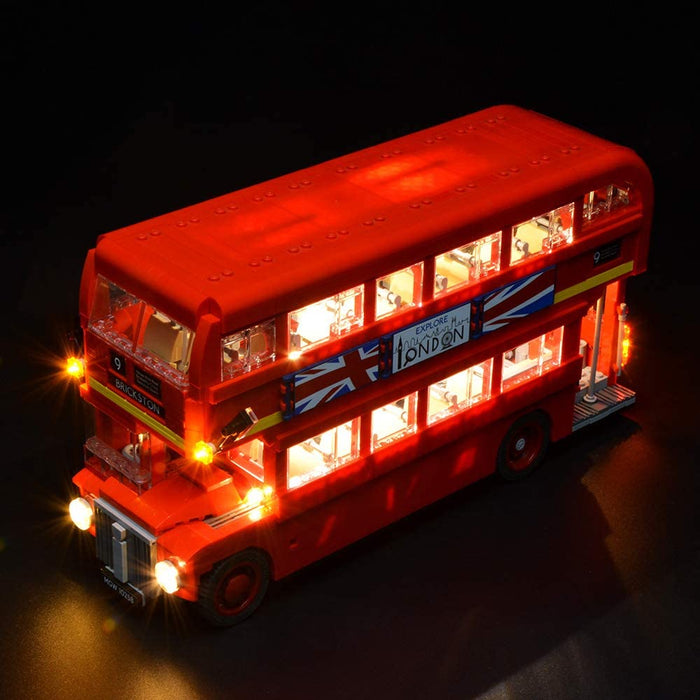 LED Light set for LEGO 10258 Creator Expert London Bus by Briksmax