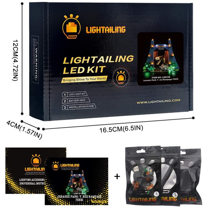 Lightailing LED Light Kit for LEGO 75936 Jurassic Park T-Rex Rampage