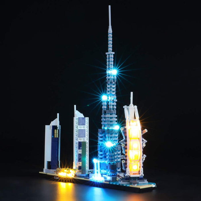 Lighting set for LEGO 21052 Architecture Dubai by Briksmax