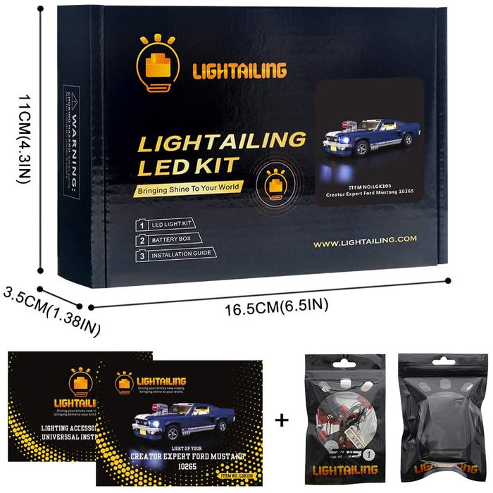 Lightailing LED Light SEt for LEGO Creator Expert 10265 Ford Mustang