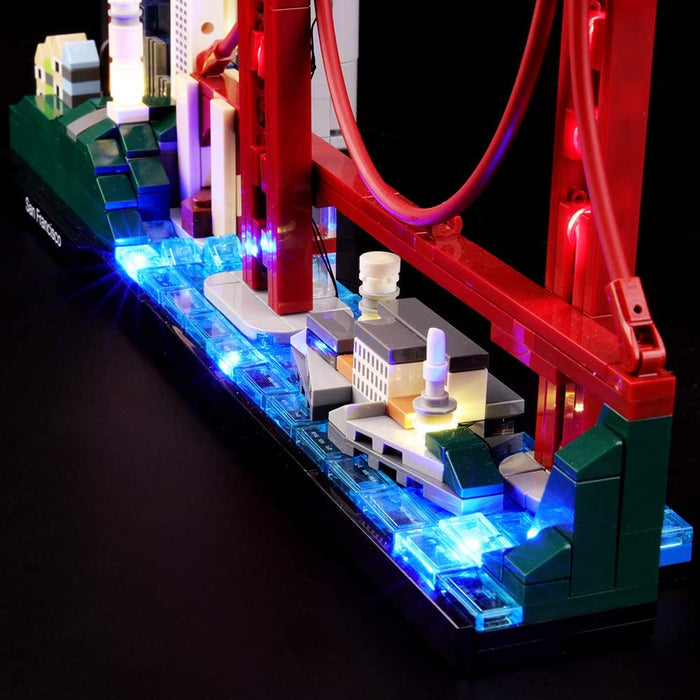 Lighting set for LEGO 21043 San Francisco by Lightailing