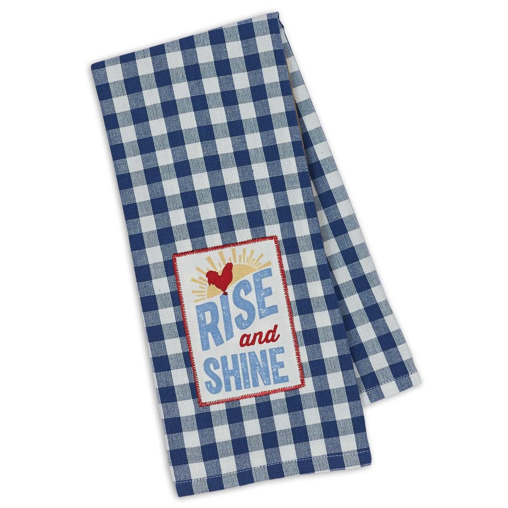 Rise & Shine Embellished Dishtowel