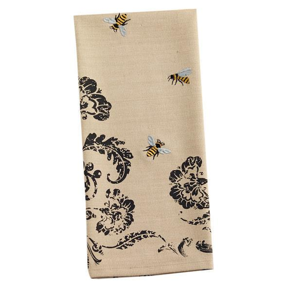 Busy Bees Embellished Dishtowel