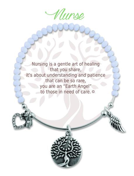 "Earth Angel ""Nurse"" Radiant Stone Bracelet"