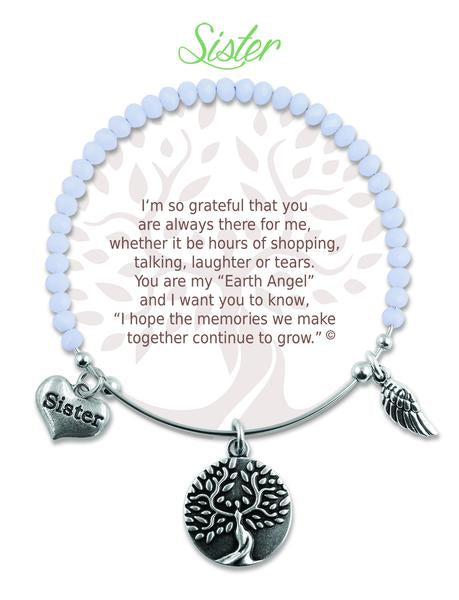 "Earth Angel ""Sister"" Radiant Stone Bracelet"
