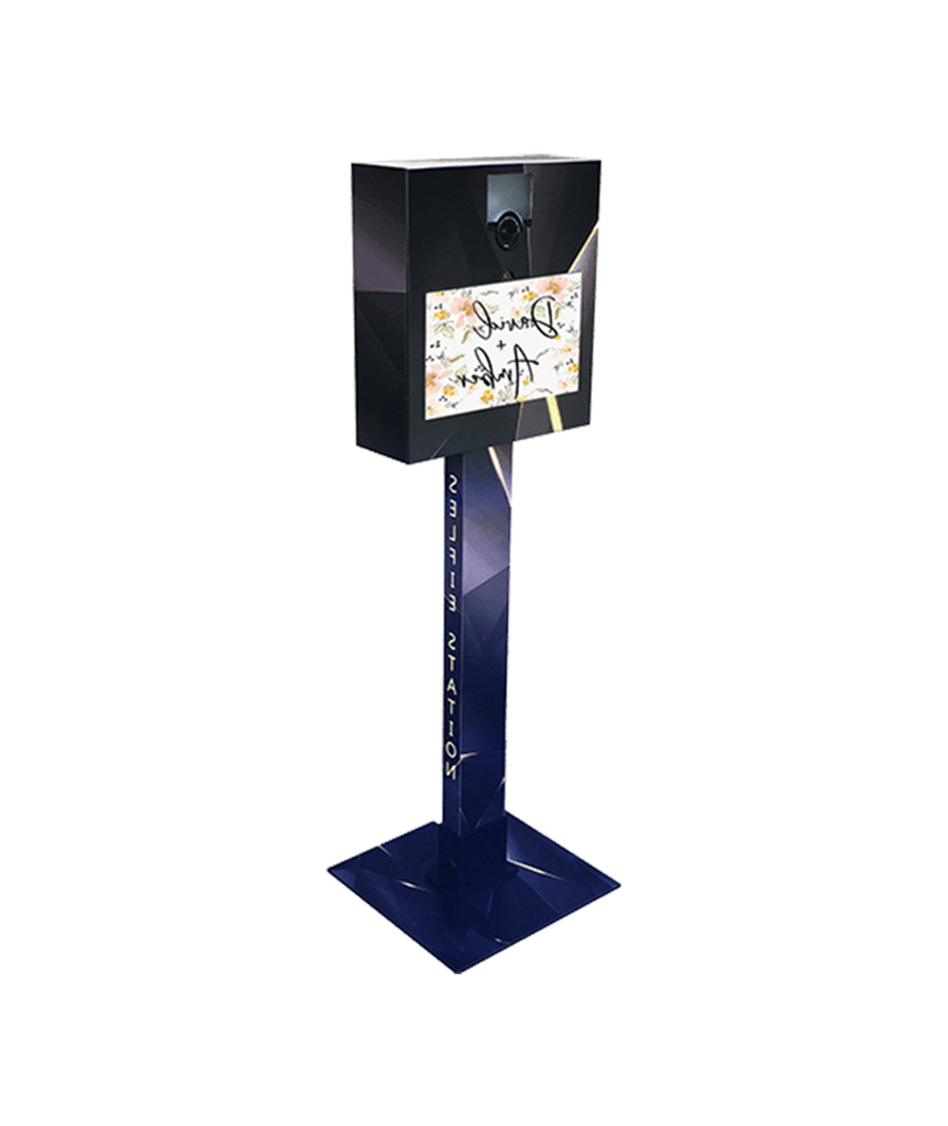 photo booth selfie station portable open air kiosk