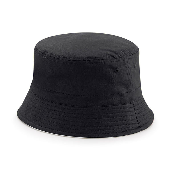 REVERSIBLE BUCKET HAT - Black/Light Grey