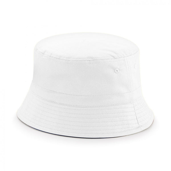 REVERSIBLE BUCKET HAT - White/Navy Blue