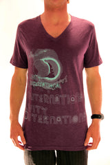Livity Outernational Mens V Neck Tee