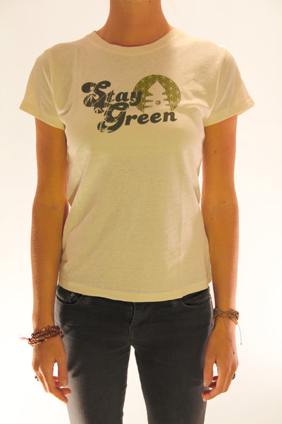 STAY GREEN WOMENS TEE