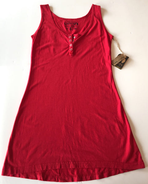 HEMP MINI HENLEY DRESS